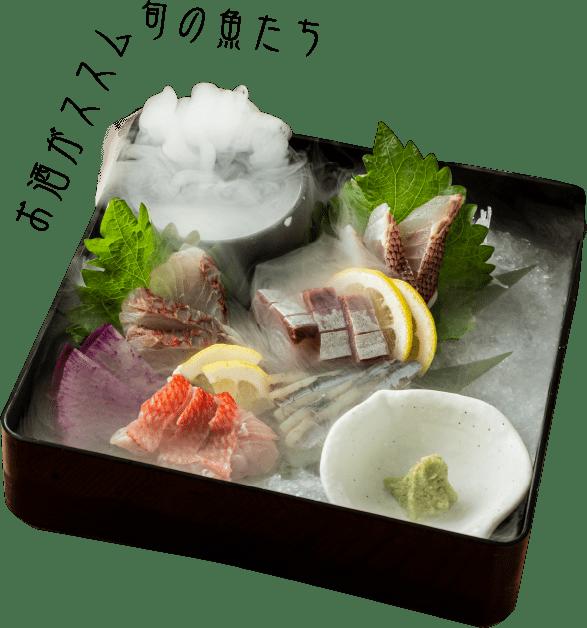 お酒がススム旬の魚たち